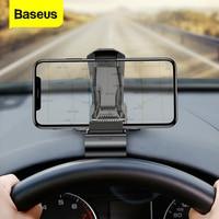 Baseus-soporte de teléfono móvil para salpicadero de coche, montaje de Clip para iPhone 11 Pro, Samsung, Huawei, no magnético