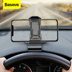 Baseus Dashboard Car Phone Holder For iPhone 11 Pro Samsung Huawei Clip Mount Car Holder Not Magnetic Mobile Phone Holder Stand