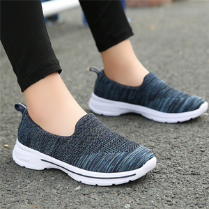 Image 3 - STQ Autumn Women Flats Woven Shoes Breathable Mesh For Ladies Loafers Shoes Women Light Weight Casual Slip On Sneaker Shoes 1938