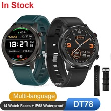 Großhandel 10 stücke DT78 Smart Uhr Männer Frauen Smartwatch Fitness Aktivität Tracker Smart Tragbare IP68 Wasserdichte Armbanduhr Männer.