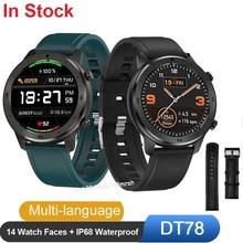Venta al por mayor, 10 Uds., reloj inteligente DT78 para hombres y mujeres, reloj inteligente para Fitness, rastreador de actividad, reloj de pulsera impermeable IP68 para hombres.