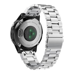 Image 4 - Fenix 6S מתכת צמיד 20mm נירוסטה מתכת QuickFit להקת שעון רצועת עבור Garmin Fenix 5S/5S בתוספת החלפת צמיד
