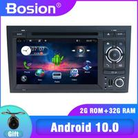 Quad 4 Core 2 DIN Android 10.0 Car DVD Player For AUDI A4 GPS Stereo Multimedia Navigation Radio Receiver Tape Recorder WIFI BT