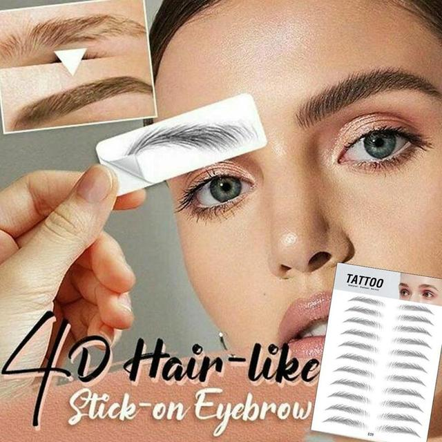 4D Hair-like Eyebrow Tattoo Sticker 4D Hair-like Authentic Eyebrows Waterproof Long Lasting Eye brows Styling for Women Lady 4