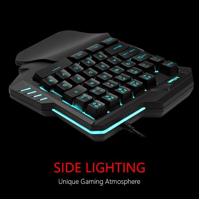 RedThunder One-Handed Gaming Keyboard RGB Backlit Portable Mini Gaming Keypad Ergonomic Game Controller for PC PS4 Xbox Gamer 4