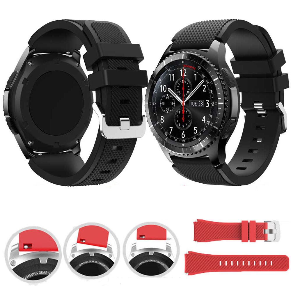 Watch Band Samsung Galaxy Watch 46mm Sport Replacement Bracelet Watchband 22mm For Gear S3 Frontier/Classic TicWatch Pro GT2