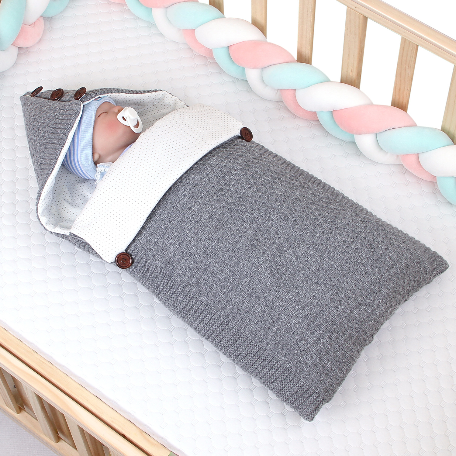 2019 New Arrival Baby Sleeping Bag Baby Swaddle Wrap Blanket Sleepsacks Thickened Sleeping Bag Newborns Bedding Quilt