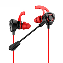 In-ear Gaming Earphones 3.5mm L Stereo Headset Earbuds Wired Game inear Earphone 360 Rotation Plug Microphone for Samsung