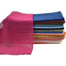 Neue Ankunft Plain Pom Chiffon Hijab Schal Muslimischen Schal Einfarbig Stirnband Wrap Turban Schals Schals 10 Teile/los