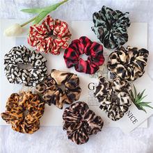 Резинки для волос ruoshui с леопардовым принтом женщин аксессуары