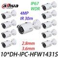 10 шт./лот Dahua оригинальный IPC-HFW1431S 4MP IP67 мини-камера WDR IR30m Замена IPC-HFW1320S с логотипом
