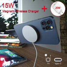 Magnetyczna bezprzewodowa ładowarka 15W dla iPhone 12 Pro Max Mini Magsafe szybka ładowarka szybka 20W ue wtyczka amerykańska PD bezprzewodowa ładowarka tanie tanio peitricrog USB PD CN (pochodzenie) Typ C Pulpit AW-Magface Used With Phone Used With iPhone