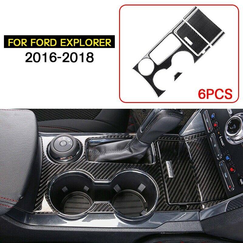 For Ford Explorer 2016-2018 Carbon Fiber Air Condition CD Panel Cover Trim