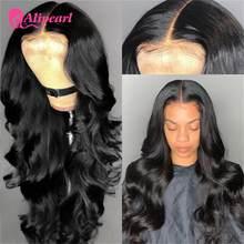 Perruque Lace Closure Wig brésilienne naturelle – AliPearl, Body Wave, 6x6, pre-plucked, pour femmes africaines