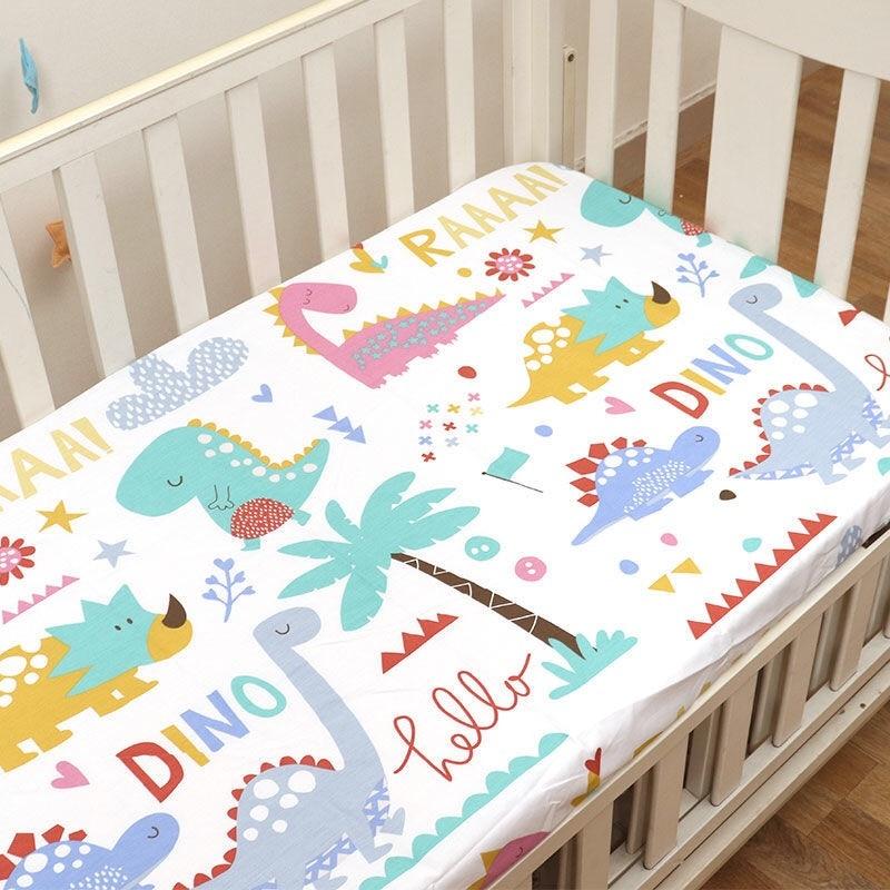 Baby Mattress Protector Crib Sheets Cot Bed Set Newborn Cradle Bassinet Travel Bed Toddler Boys Girls Crib Bedding Set 110x60cm