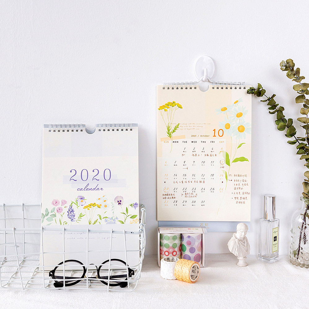 1 Pc 2019-2020 Calendar Yearly Agenda 365 Days Daily Planner To Do List Tearable Wall Calendar For Planner Decoration Girls Gift