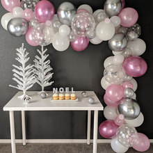 Juego de guirnalda de globos de hielo de Elsa, Princesa, copo de nieve, País de las Maravillas, bricolaje, azul, invierno, fiesta de primer cumpleaños, decoración de ducha de bebé