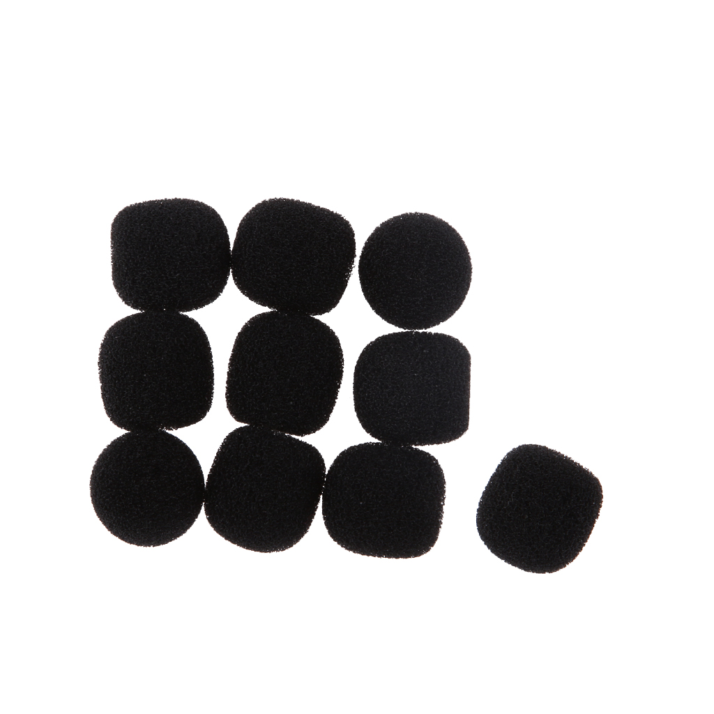 10Pcs Practical Black Small Microphone Windscreen Soft Sponge Cover Shield