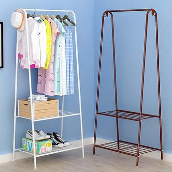 Multifunction Display Stand Metal Coat Hanger Drying Rack for Home Clothing Hat Storage