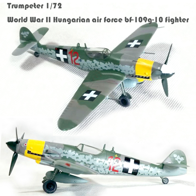 Trumpeter 1/72 World War II Hungarian air force <font><b>bf</b></font>-109g-10 fighter 37204 finished product model image