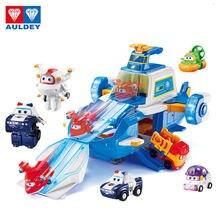 O mais recente auldey abs super asa base de comando cena inclui mini aviões e robô brinquedos como presentes para crianças