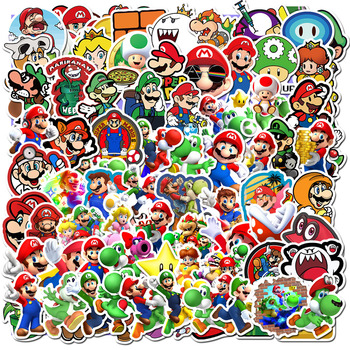 50/100 PCS Cartoon Super Mario Stickers For Chidren Kids Toy Waterproof Sticker to DIY Laptop Bicycle Helmet Car Decals - discount item  17% OFF Classic Toys