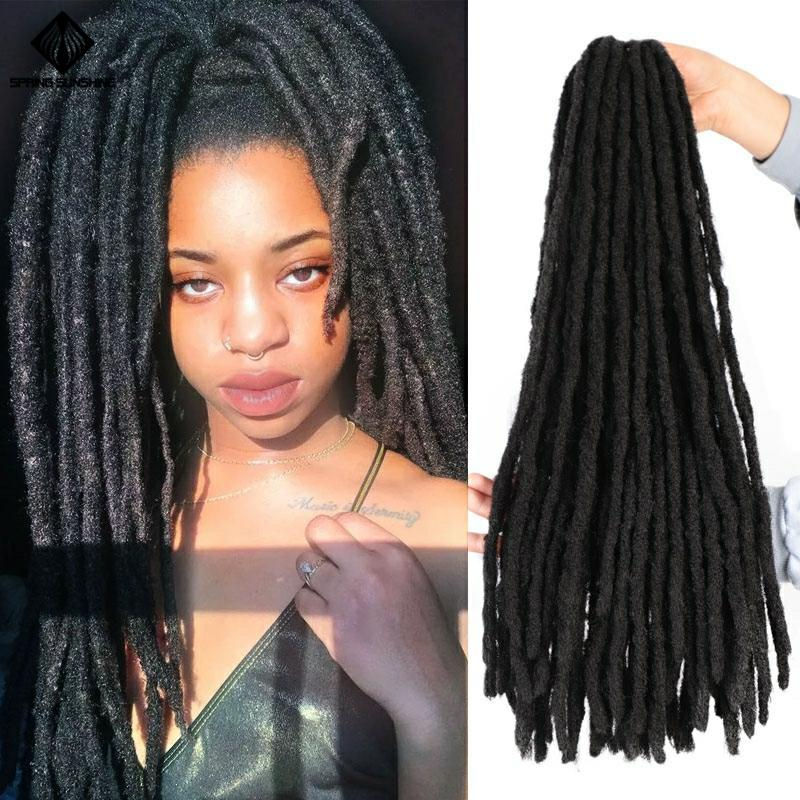 Spring Sunshine Faux Locs Crochet Braids Soft Dread 22inch Synthetic Braiding Hair Extension Afro Hairstyles