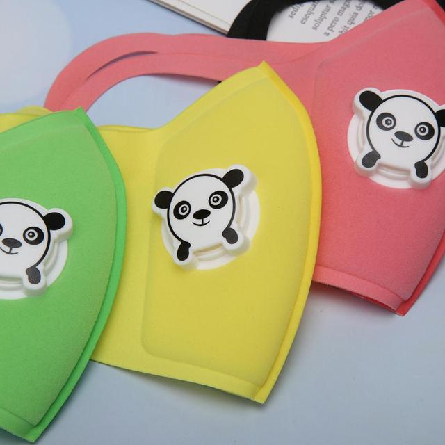 Motorcycle Mask Reuseable Double Filters Valve Anti-pollen Kid Print Breathable Cartoon Motorcycle Protection Mask 5