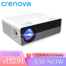 CRENOVA أحدث كامل HD 1080P قرار البدني الروبوت 8.0 OS جهاز عرض (بروجكتور) ليد مع 5G WIFI دعم 4K عارض فيديو Q9