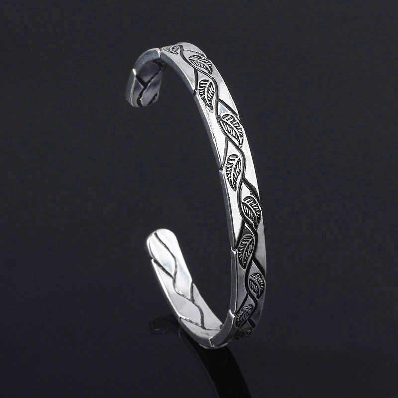 SG rétro nordique Viking Bracelets tête de loup bracelet vie arbre feuille Bileklik Thor Mjolnir marteau amulette Bracelets hommes bijoux cadeaux