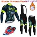 Велоспорт Джерси Мужская профессиональная команда Зима теплый флис с длинным рукавом набор горный велосипед Одежда Майо Ropa Ciclismo Hombre