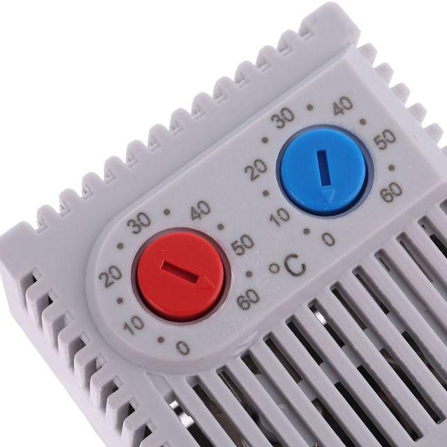 소형 컴팩트 조절 온도 컨트롤러 ZR011 듀얼 서모 스탯 캐비닛 ZR 011 용 히터 팬 연결