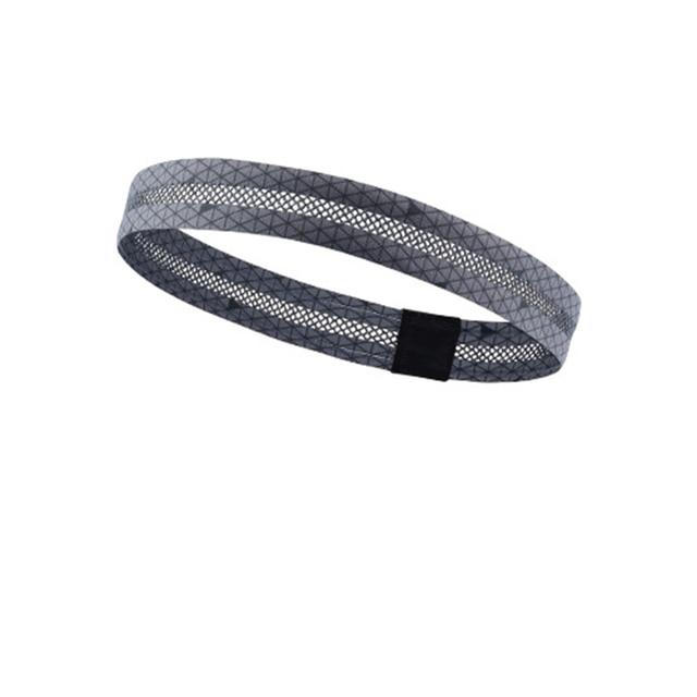 Hollow breathable sports headband running fitness non-slip antiperspirant belt riding pedal sports hair belt guide sweat belt 3