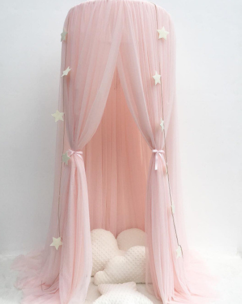 Flash Baby Mosquito Net for Free Stars Baby Girl Princess Room Decor  Mosquiteros Para s Canopy Tent Curtain Dome Tent