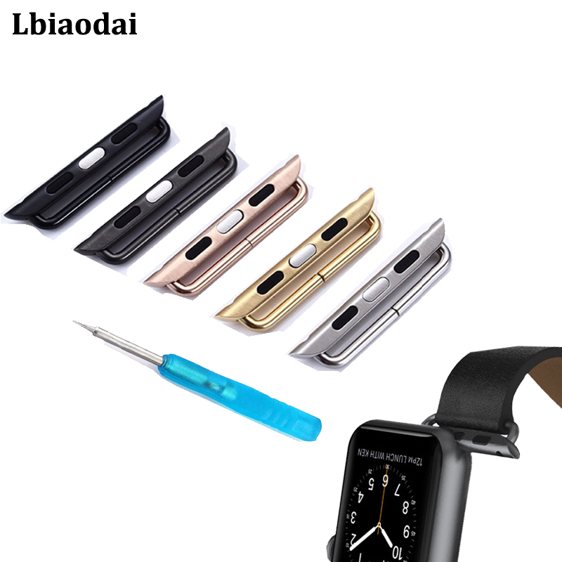 2Pcs Adapter For Apple Watch 4 44mm 40mm IWatch Band 42mm/38mm Stainless Steel Watchband Connector Apple Watch 5 4 3 Accessories