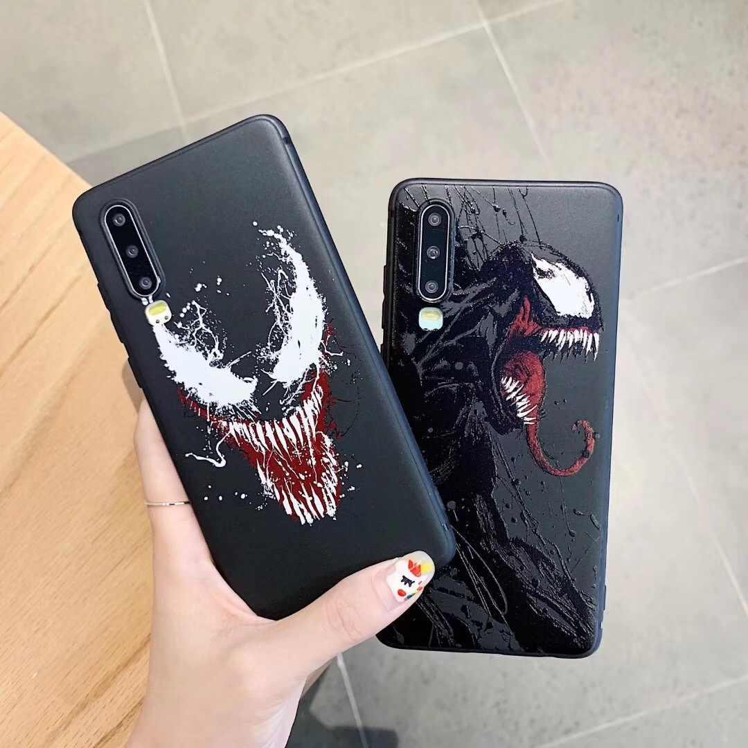 Marvel Nọc Độc 3D Giảm TPU Ốp Lưng điện thoại Samsung S8 note9 cho Huawei cho Iphone 6 s 7 8 Plus 11 max Pro X XS XR Bao