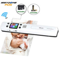 IssyzonePOS Portable Document Scanner Mini Handheld A4 Image JPG PDF Mobile Scanner WIFI with Micro SD TF Card for Book Scanning