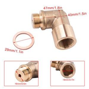 Image 3 - SPEEDWOW 90degree M18x1.5 O2 Lambda Sensor Oxygen Sensor Extender Spacer For Decat Hydrogen Brass