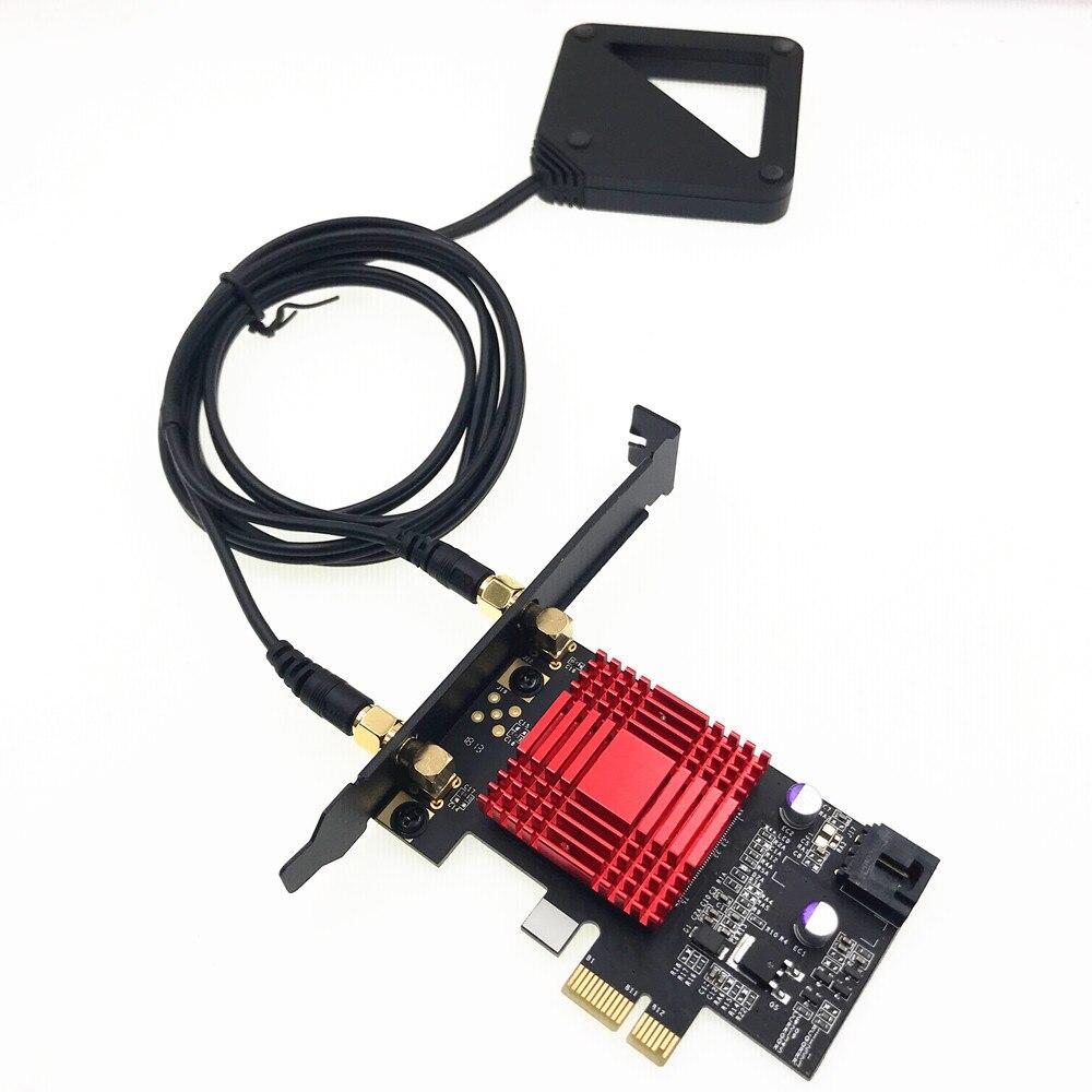 External Antenna Wireless-AC AX200 802.11ac 2400Mbps Desktop Adapter+Bluetooth 5.0