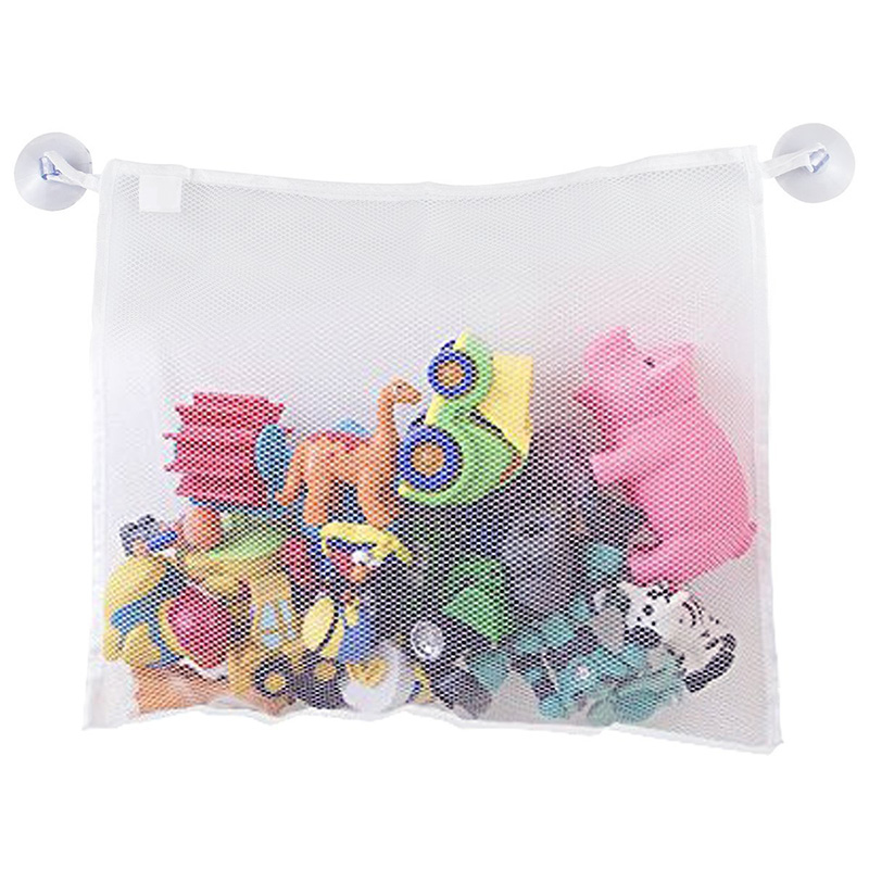 Kids Baby Bath Tub Toy Tidy Storage Suction Cup Bag Mesh Bathroom Organiser Net Organizer Storage Bags Toy Storage