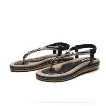 К 2020 Году Новых Летняя Мода Сандалии Для Женщин Богемный Случайный Кристалл Простой Стиль Обувь Мягкой Танкетке Сандалии Женская Обувь