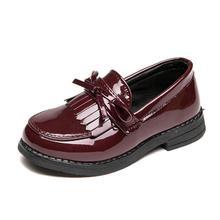 2020 niños zapatos casuales princesa Bowtie suave cuero Deporte Zapatos moda Vintage cuero Martin botas chicas zapatillas de baile