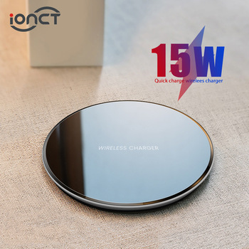 iONCT 15W qi Wireless Charger pad for iPhone X XR XS Max 8 fast wirless Charging for Samsung Huawei phone Qi charger wireless 1