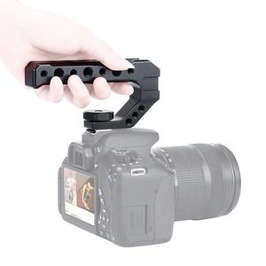 Image 2 - UURig R005 קר נעל DSLR מצלמה למעלה ידית אחיזה מתאם הר מתכת אוניברסלי היד לסוני ניקון Canon עם 1/4 3/8 בורג