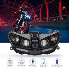 야마하 MT09 헤드 라이트 MT 09 LED 램프 DRL FZ09 2017 2018 2019 2020 오토바이 헤드 라이트 플러그 앤 플레이 오토바이 조명 LED