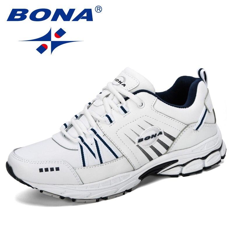 BONA 2019 Neue Designer Casual Schuhe Männer Trendy Mann Kuh Slipt Turnschuhe Freizeit Schuhe Zapatillas Hombre Männer Mode Schuhe Comfy