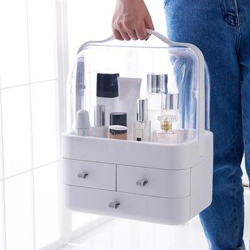 Portable Cosmetic Box Drawer-Type Desktop Storage Case Dustproof Makeup Container Sundries Organizer for Bathroom Travel