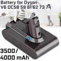 4000mAh 3500mAh Li-Ion Batterij Stofzuiger Accessoires Kit Vervangende Batterij voor Dyson Absolute V6 DC58 59 61 62 72 74