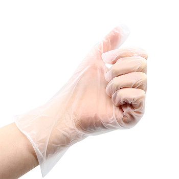 Medical-Grade Transparent Powder-Free Rubber Gloves (100pcs)