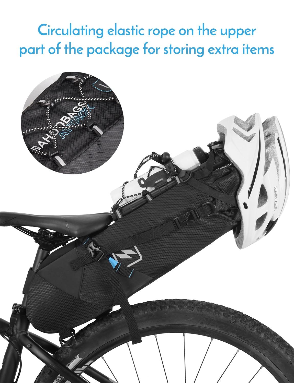 MTB Bicycle Bike Waterproof Polyester Saddle Rear Tail Seat Bag Storage Pouch